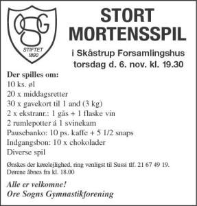 Mortenspil 2014 6.11.2014